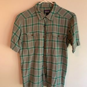 Patagonia Casual plaid button front short sleeve